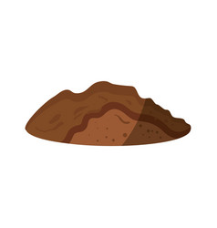 Soil icon image vector