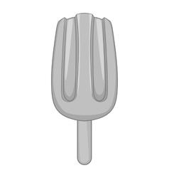 Strawberry ice cream icon gray monochrome style vector