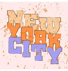 T shirt typography graphics New York athletic vector image