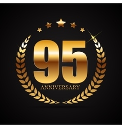 Template logo 95 years anniversary vector