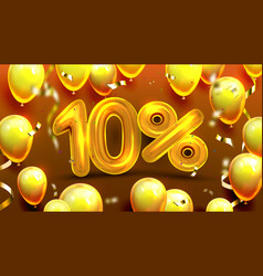 ten percent or 10 marketing special offer vector image