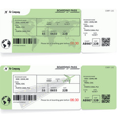 Two variants of airline boarding pass tickets vector