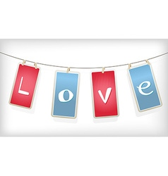 Valentine hanging labels vector image