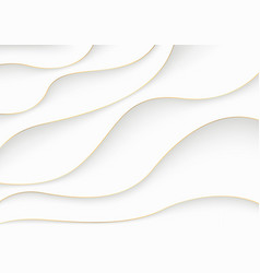 white luxury paper cut background vector image