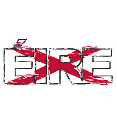 word eire irish translation of ireland with st vector image