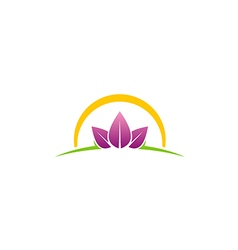 Beauty leaf spa abstract logo vector