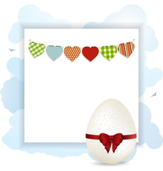Easter panel with white eggs vector image