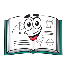 Happy smiling cartoon school textbook vector image vector image