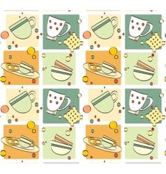 pattern - breakfast vector image vector image