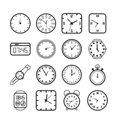 Time and clocks icons vector image