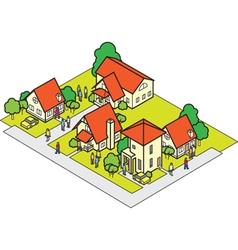 community house set vector image