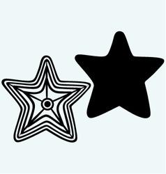 The caribbean starfish vector image