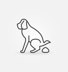 dog pooping icon vector image