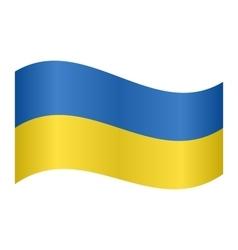 Flag of Ukraine waving vector image
