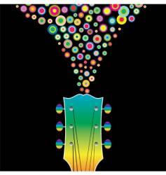 guitar headstock circles vector image vector image