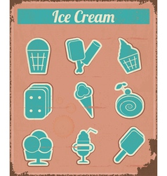 Ice Cream - Vintage set labels vector image vector image
