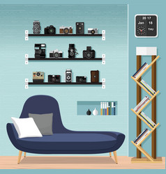 living room furniture-sofa vector image vector image