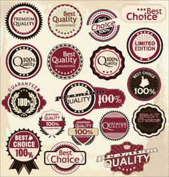 premium and high quality labels vector image