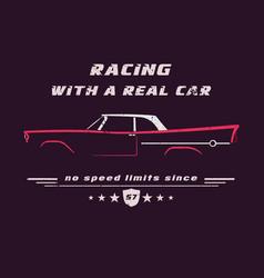 vintage classic american car vector image