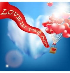Wedding invitation with balloon EPS 10 vector image