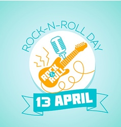 13 April World Rock-n-roll Day vector image