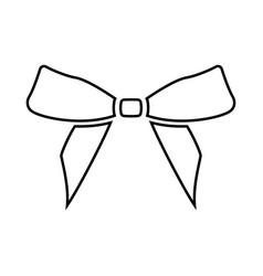 bow black icon vector image