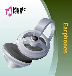 music earphone vector image vector image