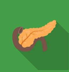 pancreas icon in flat style isolated on white vector image vector image