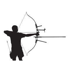 Silhouette of archer vector image
