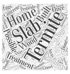 Termite treatment slab word cloud concept vector
