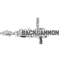 backgammon online text word cloud concept vector image