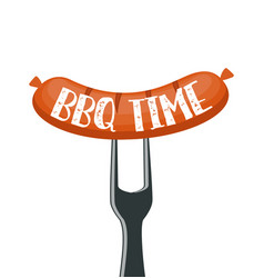 bbq time poster vector image