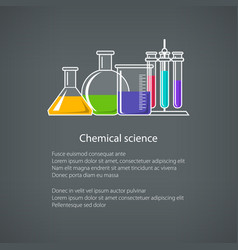 Beakers and test-tube poster vector