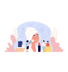 beauty salon parlor customer women makeup vector image