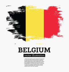 belgium flag with brush strokes vector image