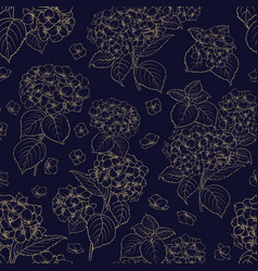 blossom flower hydrangea vector image
