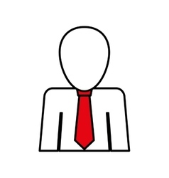 Businessman with tie pictogram vector