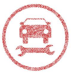 car repair fabric textured icon vector image