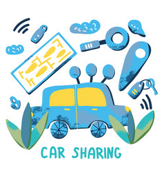 car sharing concept flat vector image