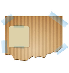 Cardboard texture background for notes vector