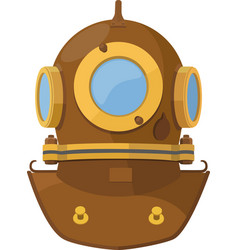 cartoon diving helmet vector image
