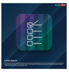 check list ok icon vector image