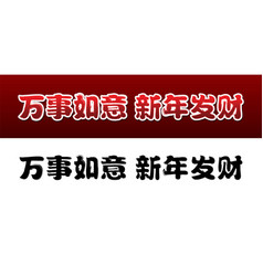 chinese characters text meaning good luck new year vector image
