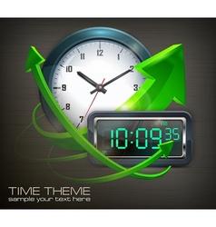 Clocks arrows vector image