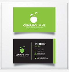 Cocktail icon business card template vector