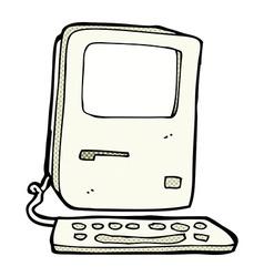 Comic cartoon old computer vector