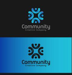 community - letter c logo template vector image