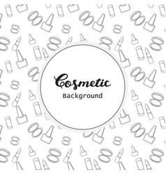 cosmetic background cosmetic pattern flat lineart vector image