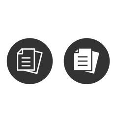 document icon set isolated on white vector image