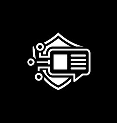 Encrypted messaging icon vector